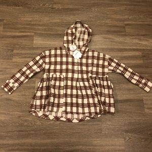Tops - 💚Plaid flannel blouse